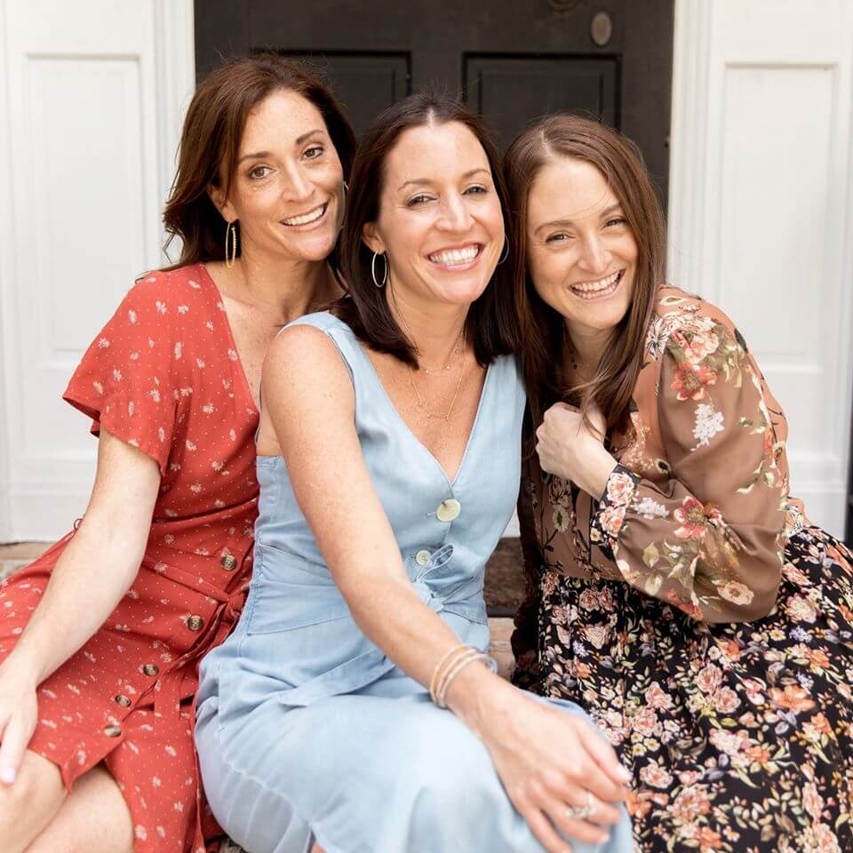 Portrait of three woman in their front porch